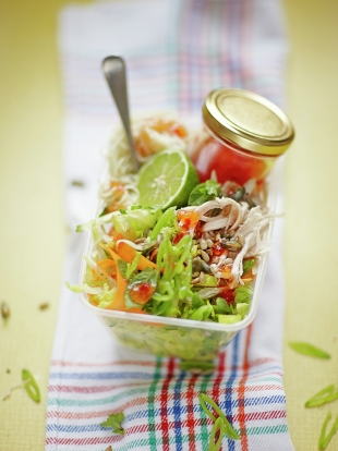 Firecracker chicken noodle salad