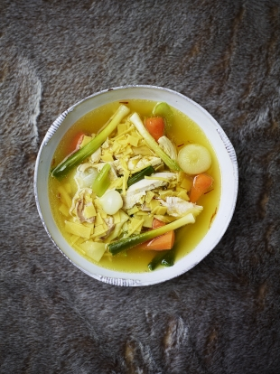 Chicken noodle soup | Chicken recipes | Andy Harris for Jamie magazine