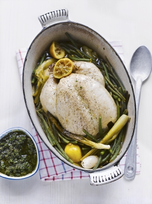 Braised spring chicken