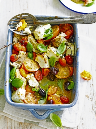 Baked Feta Tomatoes | Cheese Recipes