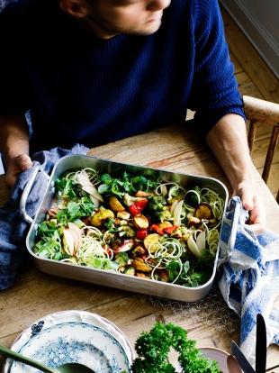 Vegetable bake recipe | Jamie Oliver traybake recipes