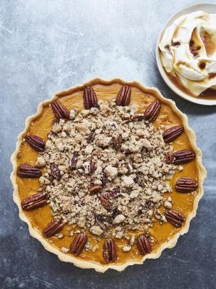 Pumpkin pie with pecan crumble | Butternut squash recipes
