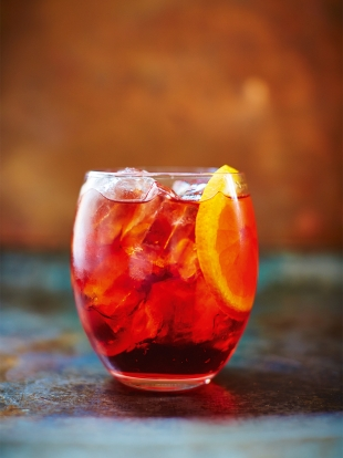 Pink pepper negroni