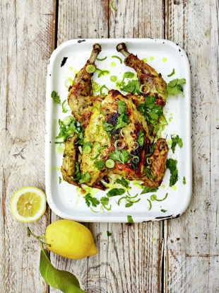 Spiced turmeric & lemon BBQ chicken