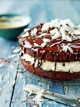 Chocolate chai sandwich cake