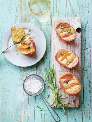 Rosemary & apricot friands