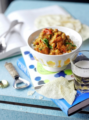 Sweet Potato Chickpea Spinach Curry