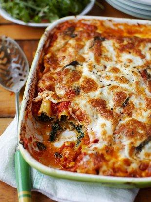 Spinach and ricotta cannelloni   Pasta recipes   Jamie magazine recipes