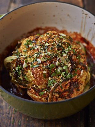 Whole roasted cauliflower recipe