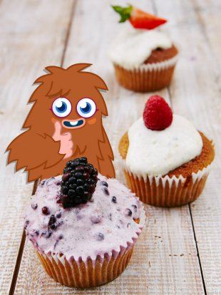 Moshi Monsters' butternut squash muffins