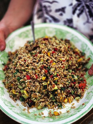 Italian roast vegetable and farro salad