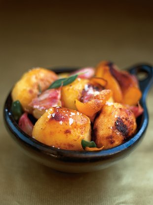 Roast potatoes with sage & orange