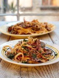Spicy spaghetti vongole