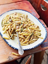 Carbonara of smoked mackerel