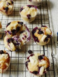 Gluten-free chocolate & blueberry muffins