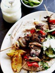 Quick lamb kebabs