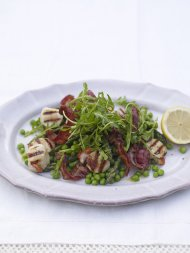 Scallops with pancetta and mint butter
