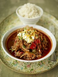 Spicy pork and chilli-pepper goulash