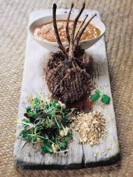 Spiced lamb lollipops with korma sauce and toasted almonds