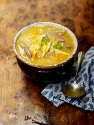 Scotch broth with winter root veg