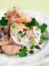 Smoked trout and Jersey Royal salad
