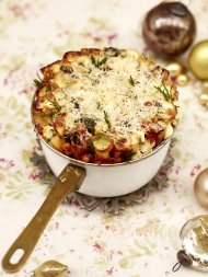 Christmas honeycomb cannelloni