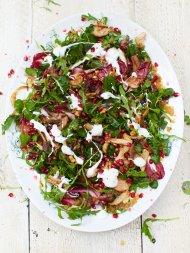 Turkey salad & warm clementine dressing