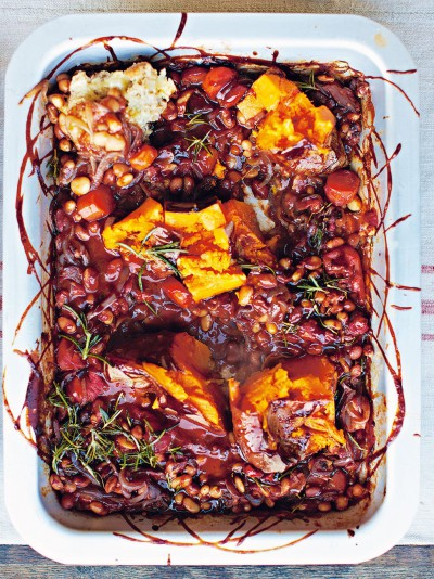 Bbq Baked Beans Vegetables Recipes Jamie Oliver Recipe