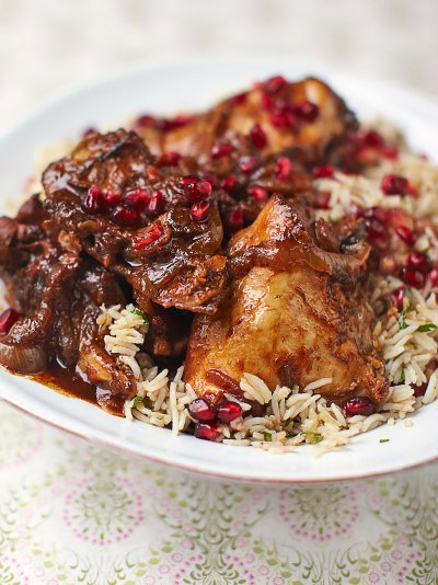 Pomegranate & chicken stew