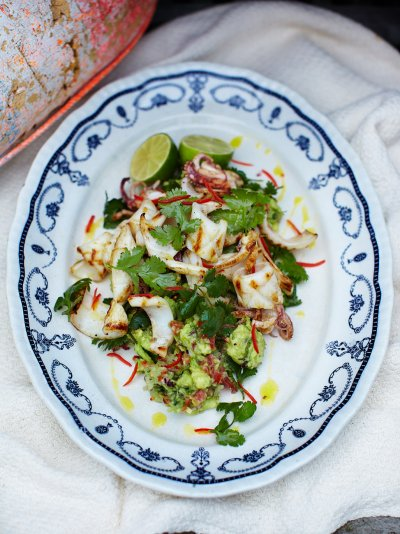 recipe: char grilled calamari salad [14]