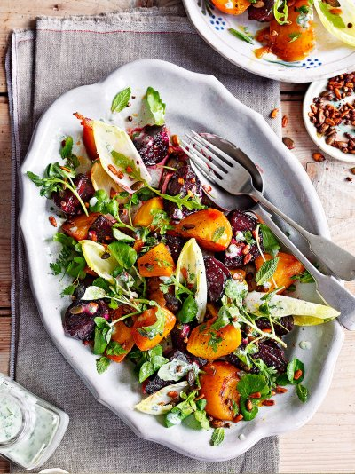 Candied beet salad