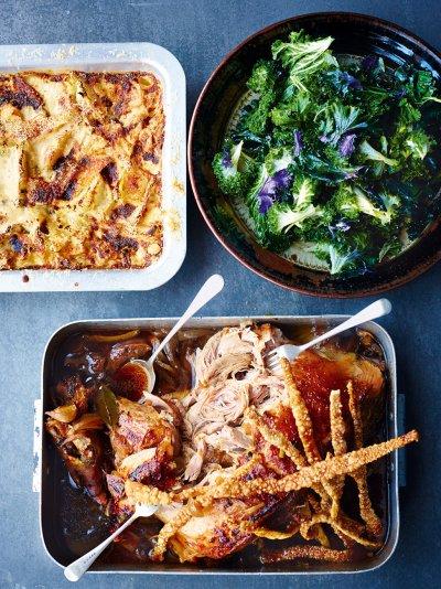 Jamies comfort food recipes jamie oliver overnight roasted pork shoulder forumfinder Images
