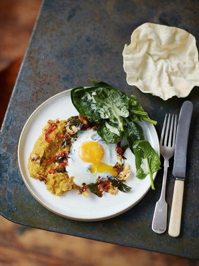 Delicious Squash Daal With Fried Egg Vegetable Recipes Jamie Oliver
