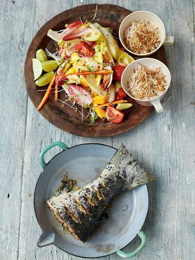 Jamies everyday super food recipes jamie oliver green tea roasted salmon forumfinder Choice Image