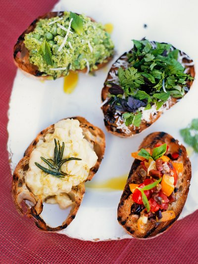Crostini - mixed herbs