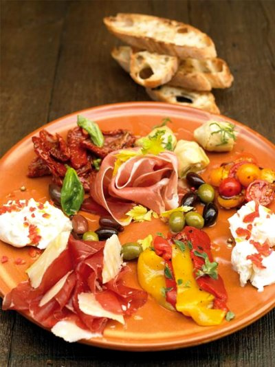 Jamie oliver italian style antipasti plate forumfinder Choice Image