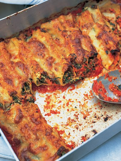 Spinach Ricotta Cannelloni Pasta Recipes Jamie Oliver Recipes