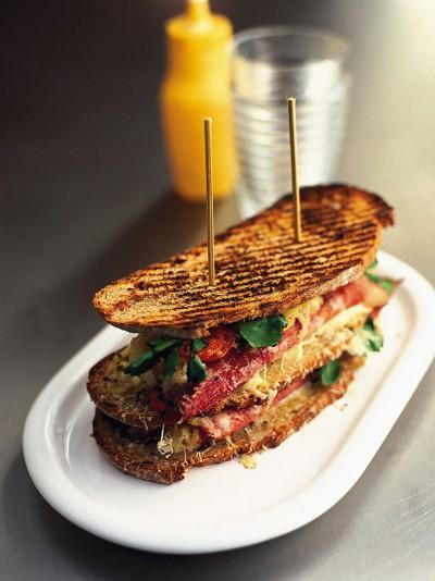 Reuben-ish sandwich