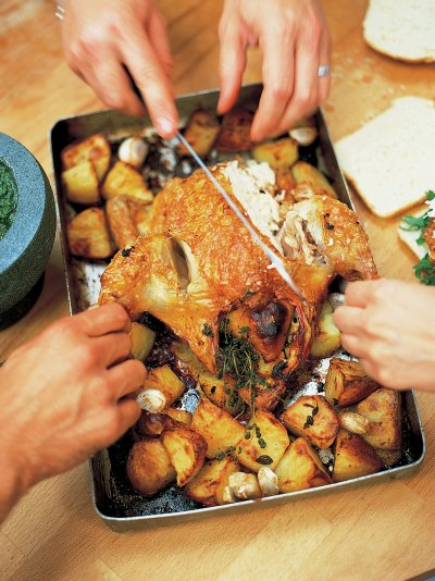 Lemon Roast Chicken Chicken Recipes Jamie Oliver Recipes