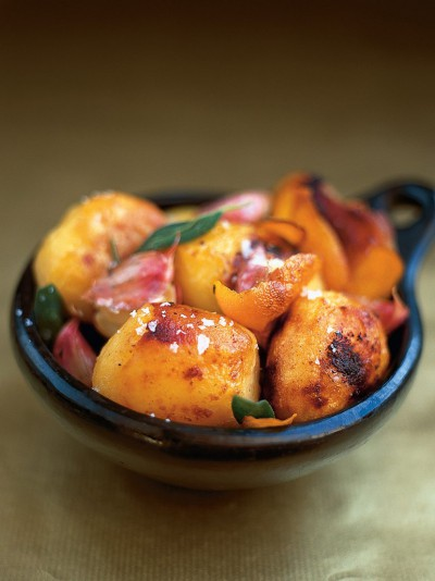 Roast potatoes with sage and orange