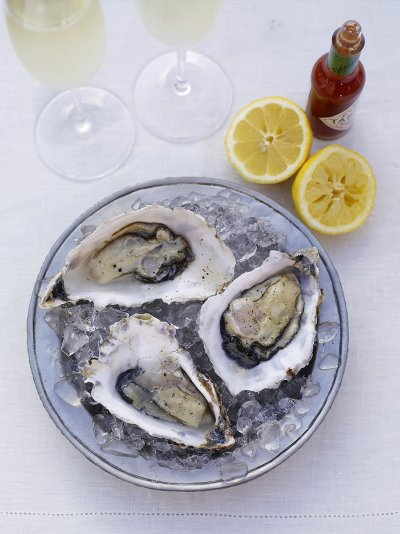 A taster of fresh oysters served the old-fashioned way