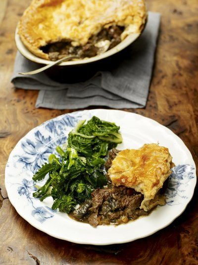 Old-school venison pie with juniper, rosemary and bay