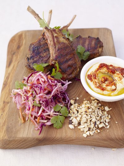 Grilled Moroccan lamb chops