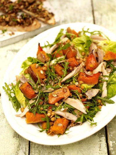 Chicken and squash salad