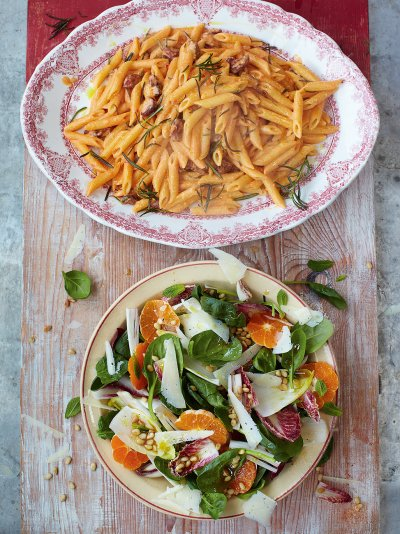 Jamies 15 minute meals recipes jamie oliver chorizo carbonara forumfinder Image collections