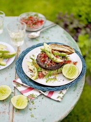 Mexican black bean burgers with lime & coriander