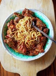 Spaghetti with wood pigeon ragù