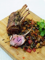 Lamb chops with ratatouille