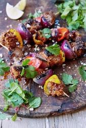 Chichinga: suya goat kebabs