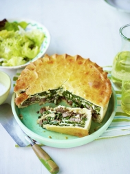 Lamb & cheese pie